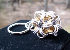 unique bauble keychain key ring chainmail chainmaille
